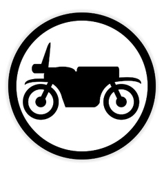 Motorcycle button on white vector image