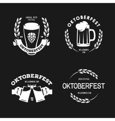 Oktoberfest beer festival retro style labels vector image