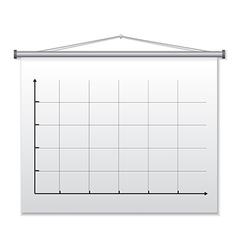 presentation board vector image vector image