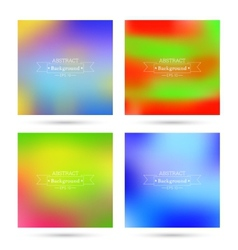 Set of colorful abstract backgrounds blurred vector image