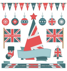 uk christmas objects vector image