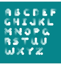 abstract alphabet from bubbles vector image