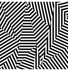 Abstract background of striped shapes vector
