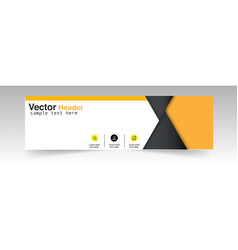 Abstract black yellow triangle header design backg vector