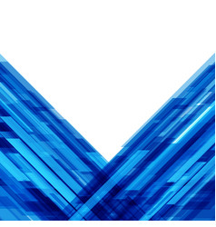 abstract geometric lines blue background vector image