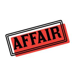 Affair advertising sticker vector
