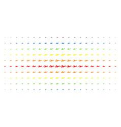 aiplane spectral halftone grid vector image