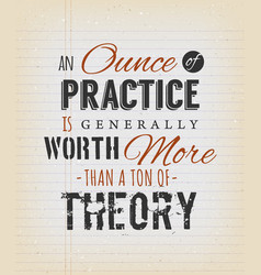 An ounce of practice is generally worth more than vector