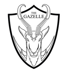 Animal africa gazelle head vector