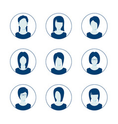 app or profile anonymous user icon set set of vector image