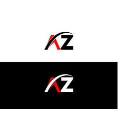 Az letter logo design template vector