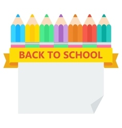 back to school pencil sheet vector image