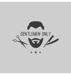 Barber logo elements vector