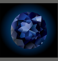 beautiful shiny sapphire vector image