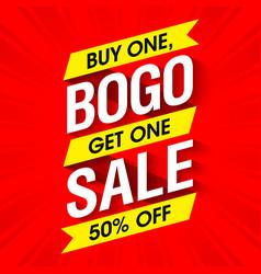 Bogo sale banner design template vector