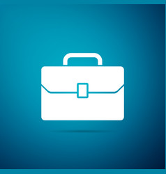 briefcase icon on blue background business case vector image
