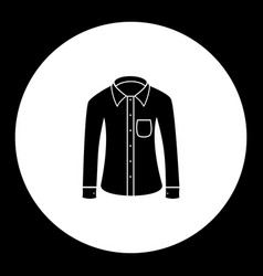business shirt simple black isolated icon eps10 vector image