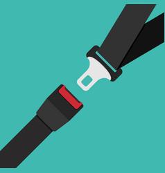 Car safety belt seatbelt safe buckle icon vector