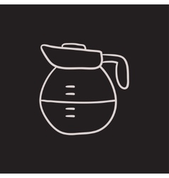 Carafe sketch icon vector image
