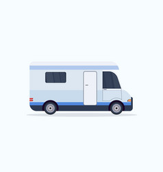caravan car icon recreational travel vehicle vector image