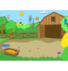 Cartoon farm color book children vector image