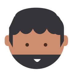 cartoon man face icon vector image