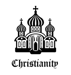 Christianity temple or church vector image
