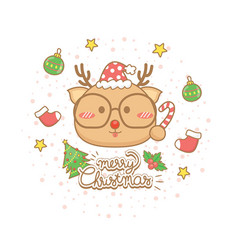 christmas celebration card vector image