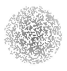 circle with halftone effect for your design vector image