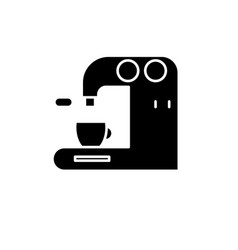 coffee machine in bar black icon sign on vector image