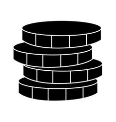 coins money icon black sign vector image