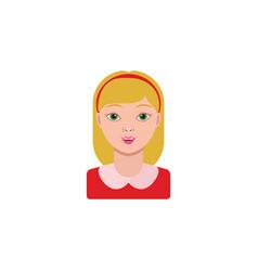 color image girl schoolgirl portrait vector image