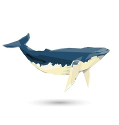 Conceptual polygonal Humpback Whale Abstract low vector