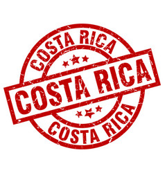 Costa rica red round grunge stamp vector