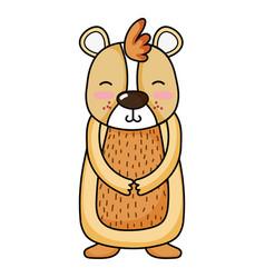 Cute and smile bear wild animal vector