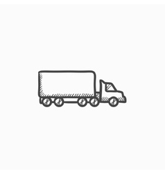 Delivery truck sketch icon vector image