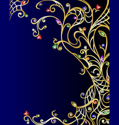 Diamond gold jewerly vertical background vector