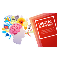 Digital marketing plan creative strategy vector