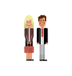 european staff couple in business suits vector image