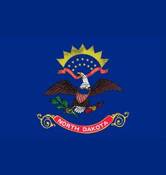 Flag of north dakota vector