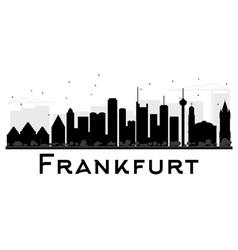 Frankfurt City skyline black and white silhouette vector image