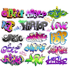 Graffiti urban art set vector image