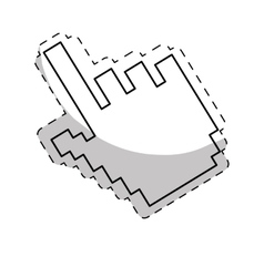 Hand cursor icon vector