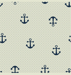 Hand drawn anchor seamless pattern vector