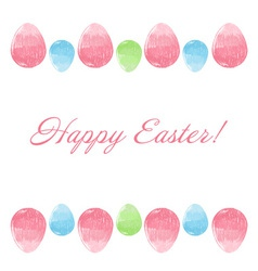 Hand drawn design Easter eggs border frame vector image