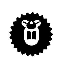 Hedgehog solid vector