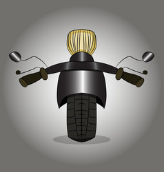 image of a road motorcycle is a front view vector image