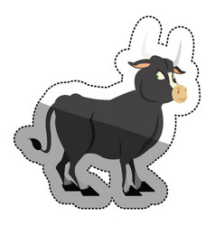 isolated bull cartoon design vector image