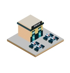 Isometric police station icon vector image