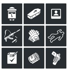 Killer Icons Set vector image